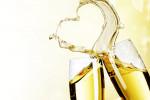 Champagne hart Valentijn