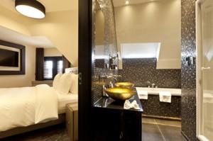 Suite Paleis Noordeinde - slaapkamer badkamer