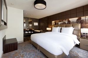 Suite 5 Lange Voorhout - slaapkamer en badkamer