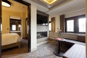 Suite 7 Binnenhof - living en slaapkamer