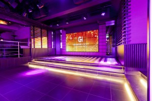 Club 1660 - podium met videowall